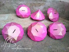 Tirelires diamant pour le Téléthon http://www.frabieux.com/2014/11/une-tirelire-diamant-pour-le-telethon.html #téléthon #diamant #origami #tirelire #charitybox #DIY