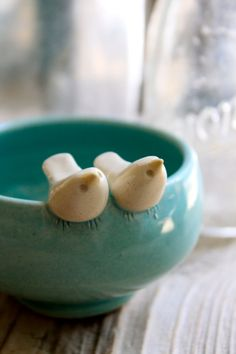 ceramic love birds bowl.