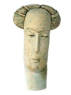 "Stella Zadros, ceramic sculpture- Townswoman from ""The Magical Krakow series"", 2006,  70 cm, www.stellaart.com"