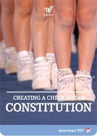 Coaches – Creating a Cheer Squad Constitution (ideas of what to include)