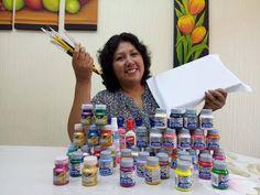 Acrylic Painting Techniques, Art Techniques, Fabric Painting, Diy Painting, Diy And Crafts, Arts And Crafts, Ganesha Painting, Lion Pictures, Macrame Patterns