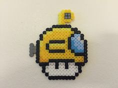 perler bead mushroom Yellow submarine - by Bjrnbr