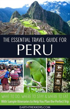 Peru Travel Guide. Plan your perfect trip to Peru. Learn where to go, what to do, where to stay, and more. Plus, get a sample 10 day itinerary for Peru. #peru #amazon #machupicchu