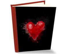 Album in pelle con copertina con cuore