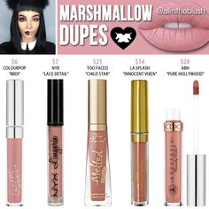 Lime Crime Marshmallow Dupes