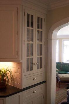 Glass Cabinet Kitchen Layoutroom Kitchenkitchen Storagekitchen Ideasglass Cabinetshouse Beautifulstorage Ideas