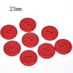 50 Pcs Red Round Resin Sewing Buttons Scrapbooking 23mm Dia. Knopf Bouton(W01783 X 1)