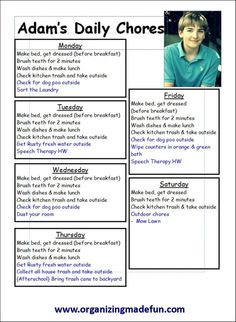 Great chore charts & schedule ideas for the kids! Ohhh how I love Pinterest! bwahahaaaa