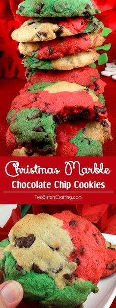 Christmas Marble Chocolate Chip Cookies
