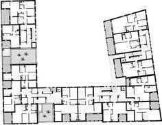 58 Habitações Sociais em Antibes,Planta Baixa
