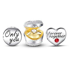 """Heart Forever Charm Set❤Use Coupon code """" PIN5 """" ,Get 5% OFF on all products on www.glamulet.com"""