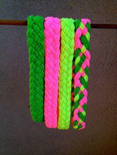 Braided TShirt Headbands I See the World In Neon by HatsuneKitsune, $8.00
