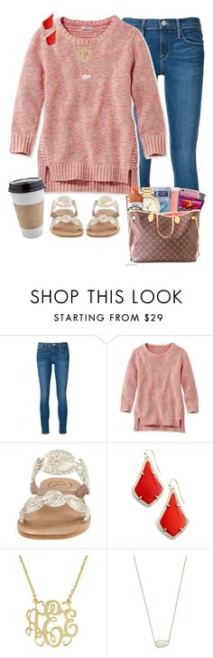 """""""that Louis Vuitton tho"""" by sophie-dye ❤ liked on Polyvore featuring Frame, L.L.Bean, Jack Rogers, Kendra Scott and OUTRAGE"""