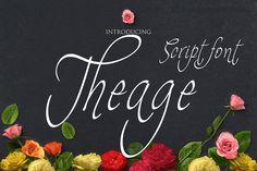 Free Font - Theage Script Font on Behance