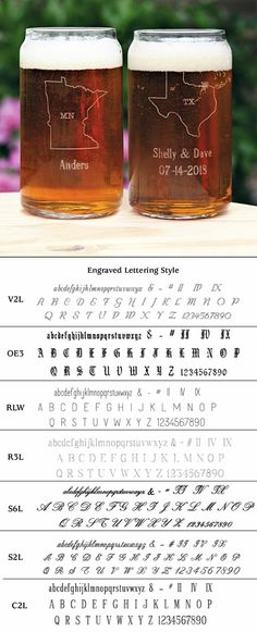 """Personalized """"Love My State"""" Can-Shaped Glasses (Set of 2)"""
