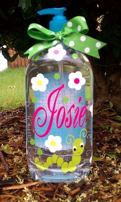 personalized hand sanitizer bottle