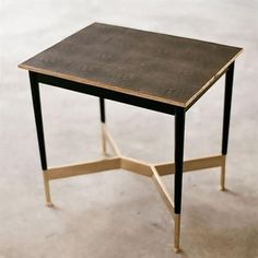 Alexander Lamont Alexandria Salon table with shagreen top and bronze base