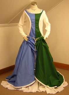 A Medieval, Bi-Color, Hell's Gate Surcoat fit for a Queen!