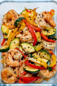 Super-Easy Shrimp Stir-Fry for Clean Eating Meal Prep!, Super-Easy Shrimp Stir-Fry for Clean Eating Meal Prep!, Food Recipes Super-Easy Shrimp Stir-Fry for Clean Eating Meal Prep! Stir Fry Meal Prep, Healthy Meal Prep, Healthy Recipes, Healthy Tips, Skinny Recipes, Detox Recipes, Wallpaper Food, Clean Eating Snacks, Healthy Eating