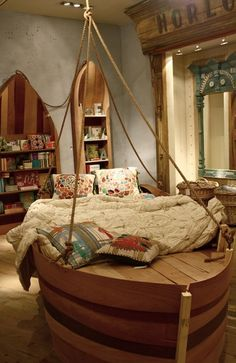 Kandeeland: The Coolest Kids Bedrooms EVER  Love the ship bed.