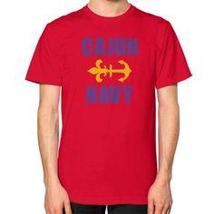 CAJUN NAVY Unisex T-Shirt (on man)