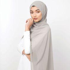 Subtle shades of our Soft Crepe range. Vintage Khaki Soft Crepe Hijab Macaroon Soft Crepe Hijab www.inayah.co