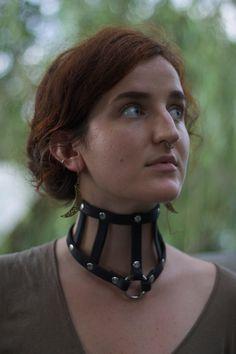 Leather Posture Collar por WildWolfLeatherwork en Etsy