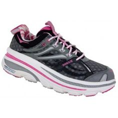 Grey/Fuschia/White Front View - good for heel spurs