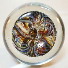 Böhmisches Glas Paperweight / Briefbeschwerer • Antik • Abriss • um 1900