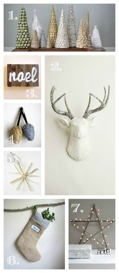 holiday trends from Just The Bees Knees • I love that this holiday decor isn't over the top red and green!