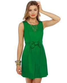 Rehearsal Dinner Sleeveless Green Dress: this is such a cute dress....i love the color!