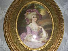 LARGE 8 3 4 x 6 Antique Miniature Museum qualility Portrait Painting Miniature Portraits, Miniatures, Plate, Museum, Princess Zelda, Painting, Button, Antiques, Ebay