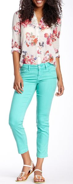 Lilly Cropped Skinny Straight Leg Jean || I'm honestly pinning this for the top, actually
