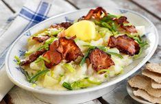 Plukkfisk – Matvett Fish Dinner, New Recipes, Potato Salad, Mashed Potatoes, Bacon, Tasty, Meat, Chicken, Cooking