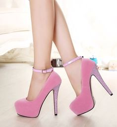 stilettos ultra shallow mouth single shoe The princess waterproof buckles for women's shoes