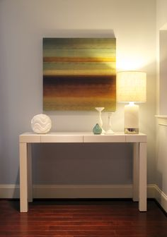 Superior West Elm Parsonu0027s Console Table With Modern Artwork By Creative Elegance  Interiors.