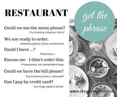 GET THE PHRASE - RESTAURANT