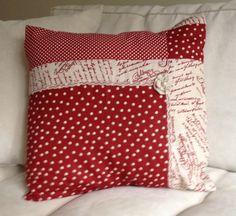 Patchwork linen pillow