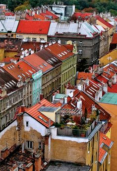 Rooftop Garden, Prague.  by fantommst
