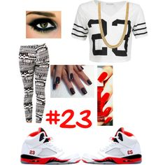 """""""#23"""" by tianarose365 on Polyvore cheap air jordan 5 only $60, save up to 59% off for all #Nikes #Shoes"""