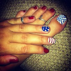 Fourth of July nails