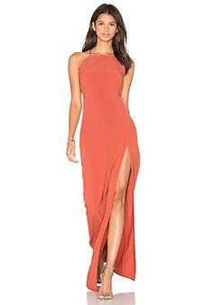 25e3af5ab34 Donna Mizani Square Neck Maxi Dress in Spice
