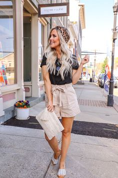 Affordable Vacation Style With Affordable Vacations, Affordable Clothes, Cute Dresses, Cute Outfits, Paper Bag Shorts, Almost Ready, Vacation Style, Cute Sandals, Forever21