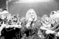 Adele performing at The Gabba