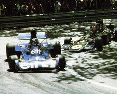 François Cevert, Tyrrell 006 & Emerson Fittipaldi - Montjuic, 1973.