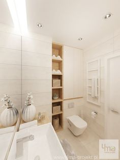 Bathroom Niche: Learn How To Choose And See Ideas With Photos - Home Fashion Trend Bathroom Niche, Bathroom Trends, Bathroom Toilets, Laundry In Bathroom, Bathroom Layout, Bathroom Colors, Bathroom Sets, Bathroom Design Small, Bathroom Interior Design