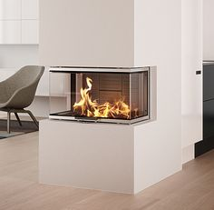 Visio 3 Three Sided Inset Fireplace 7kw
