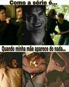 Serie The Vampire Diaries, Vampire Diaries Damon, Vampire Diaries The Originals, Delena, Tv Memes, Funny Memes, Frases Tvd, Klaus Tvd, Vampire Daries