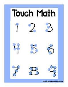 Touch Math Poster
