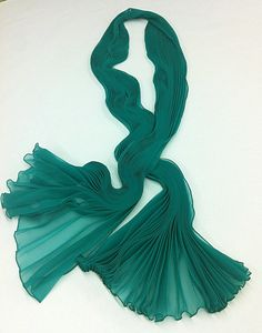 The Girl in The Green Scarf by IntlPleating on Etsy, $95.00